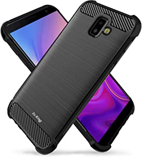 Galaxy J6 Plus Case, Zeking Brushed Texture Soft TPU Carbon Fiber Shock Resistant Phone case Anti-Scratch Flexible Full-Body Protective Cover for for Samsung Galaxy J6 Plus (2018) (Black)