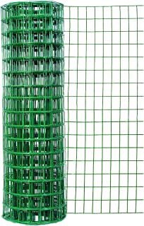 Garden Zone 24 Inches x 50 Feet 16-Gauge Green Vinyl Coated Garden Fence with 3 x 2-Inch Openings