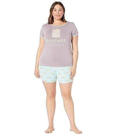 Kickee Pants Plus Size Short Sleeve Pajama Set with Shorts Women