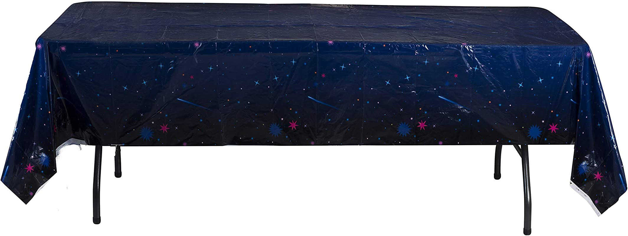 Hammont Galaxy Stars Tablecloth 54 108 Space Decorations Table Cover Ideal For Family Dinners And Special Events 4 Pack