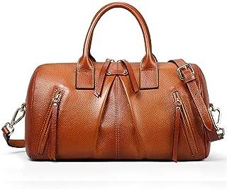 Women's Vintage Handbag Leather One Shoulder Diagonal Crossbody Bag Wild Pillow Bag Shoulder Bag(FM)