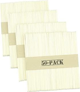 Wooden Ice Cream Sticks • Premium Beveled Edge Popsicle Stick 4-1/2