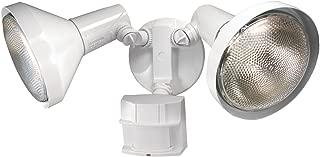 Heath Zenith SL-5412-WH-D 300-Watt Motion-Sensing Twin Security Light, White