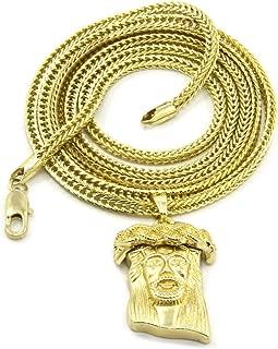 Gold Tone Plain Jesus Piece Charm Micro Pendant 36