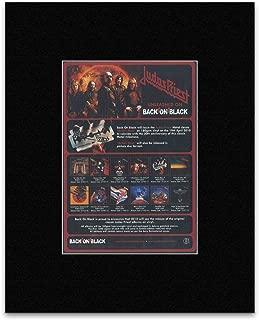 Judas Priest - 2010 - Unleashed On Back On Black Mini Poster - 28.5x21cm