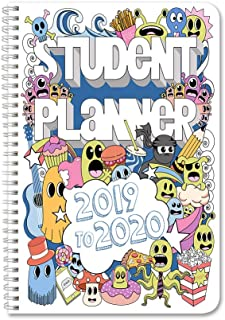 "BookFactory 2019-2020 Doodle Student Planner/Agenda/Organizer/Calendar (134 Pages) - 6"" X 9"" Wire-O (CAL-134-69CW-A(DoodlePlanner19-20))"
