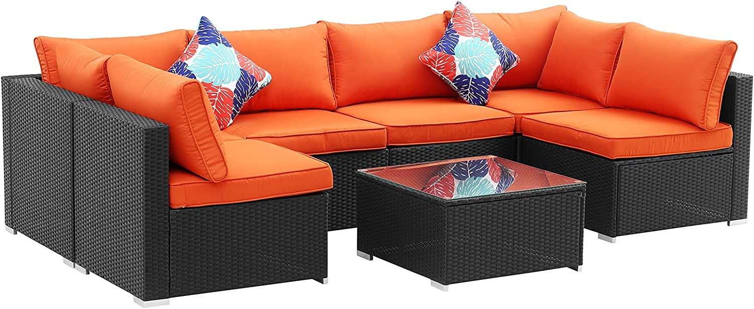 Ainfox 7 Pieces Over item handling Ranking TOP10 Outdoor Patio Sofa Set Furniture Sectional