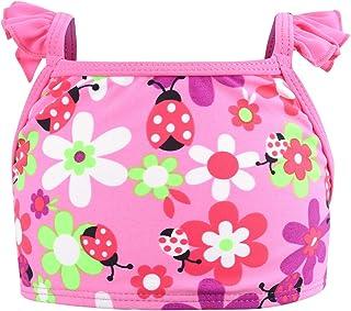 Eono Essentials - Bikini con volantes en los tirantes para niñas