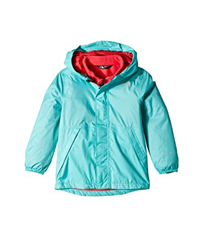 The North Face Kids Stormy Rain Triclimate(r) Jacket (Toddler) (Mint Blue) Girl