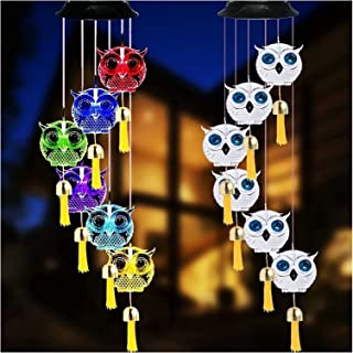 Wind Chime LED Solar Windchime Lights with Bells Used for Indoor and Outdoor Hanging Decoration for Yard Patio Garden Home...
