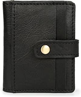 Hardheaded Short-sleeved Card Package Wave Unbalanced Horse Leather Multi-card Card Package Unisex Man Wallets (Color : Br...