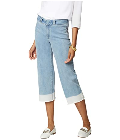 NYDJ Wide Leg Capri Jeans with Wide Waistband in Placida (Placida) Women