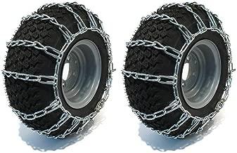 LBB-Parts Pair 2 Link Tire Chains 20x8.00x10 20x8.00-10 Garden Tractors Riders Snowblower