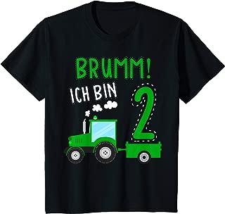 Kinder 2. Geburtstag 2 Jahre alt Jungen oder Mädchen Party Geschenk T-Shirt