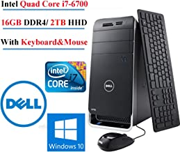 DELL XPS 8900 Intel Core i7-6700 up to 4GHz Quad-Core Gaming Desktop, 16GB DDR4, 2TB HHD,GeForce GTX745, WIN10 Pro (Renewed)