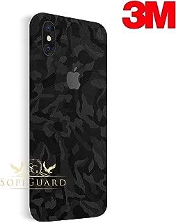 SopiGuard 3M Full Body Precision Edge-to-Edge Coverage Easy-to-Apply Vinyl Skin Sticker for iPhone X 10 (3M Black Camo)