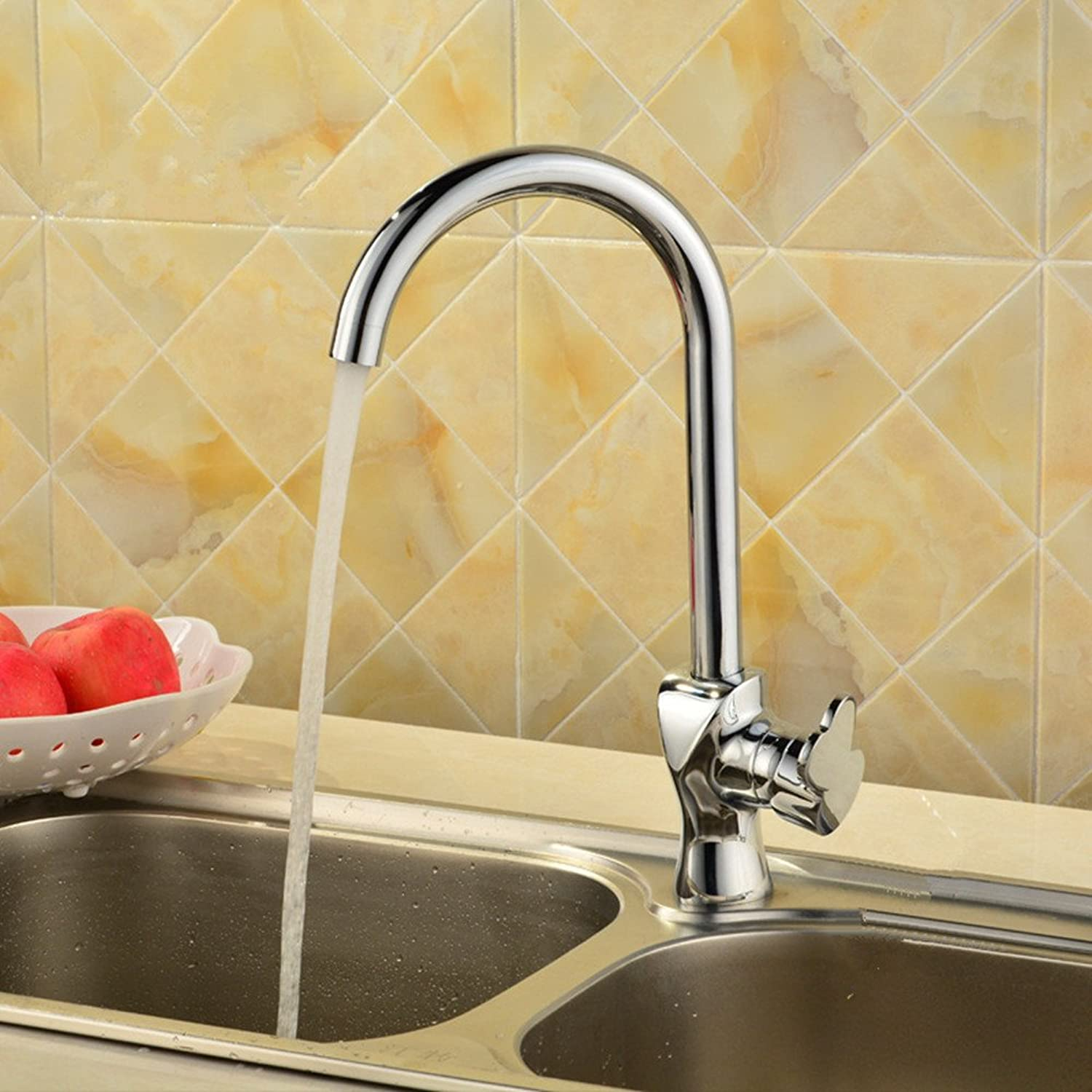 Single hole faucet brass kitchen sink faucet and cold water faucet kitchen Mixer Taps sink faucet single hole Faucet