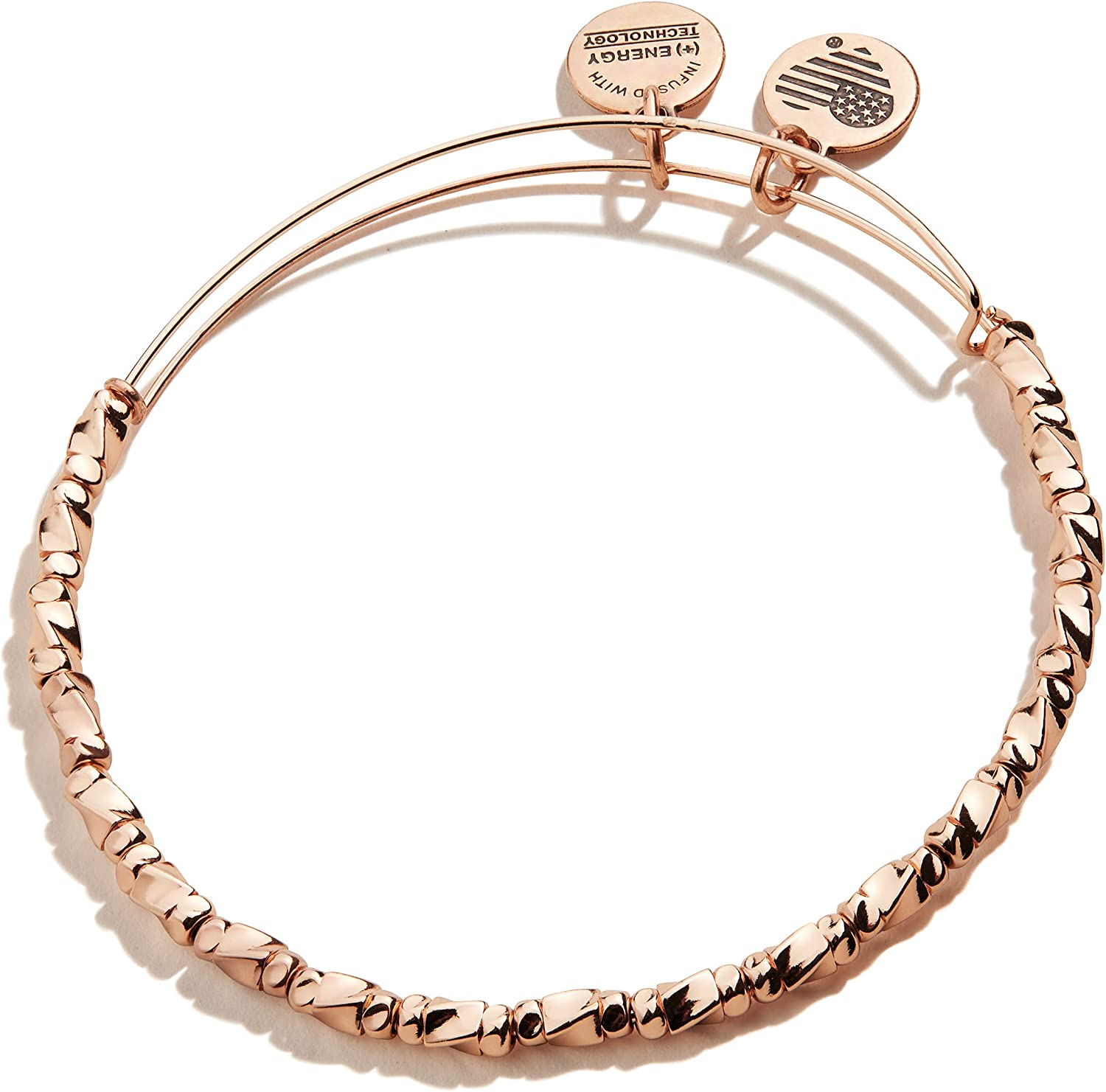 Alex and Ani Accents Majesty Metal Beaded Expandable Bangle for Women, 2 to 3.5 in