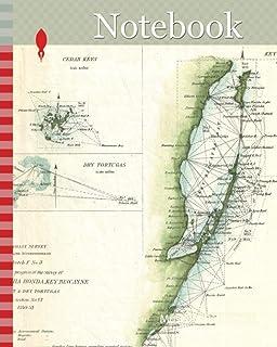 Notebook: 1853, U.S. Coast Survey Map of Key Biscayne Bay, Key West and the Cedar Keys, Florida