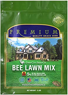 Twin City Seed Co. Bee Lawn Seed Mixture | Pollinator Friendly, Low Maintenance, Alternative Grass Seed | 99.9% Weed Free ...