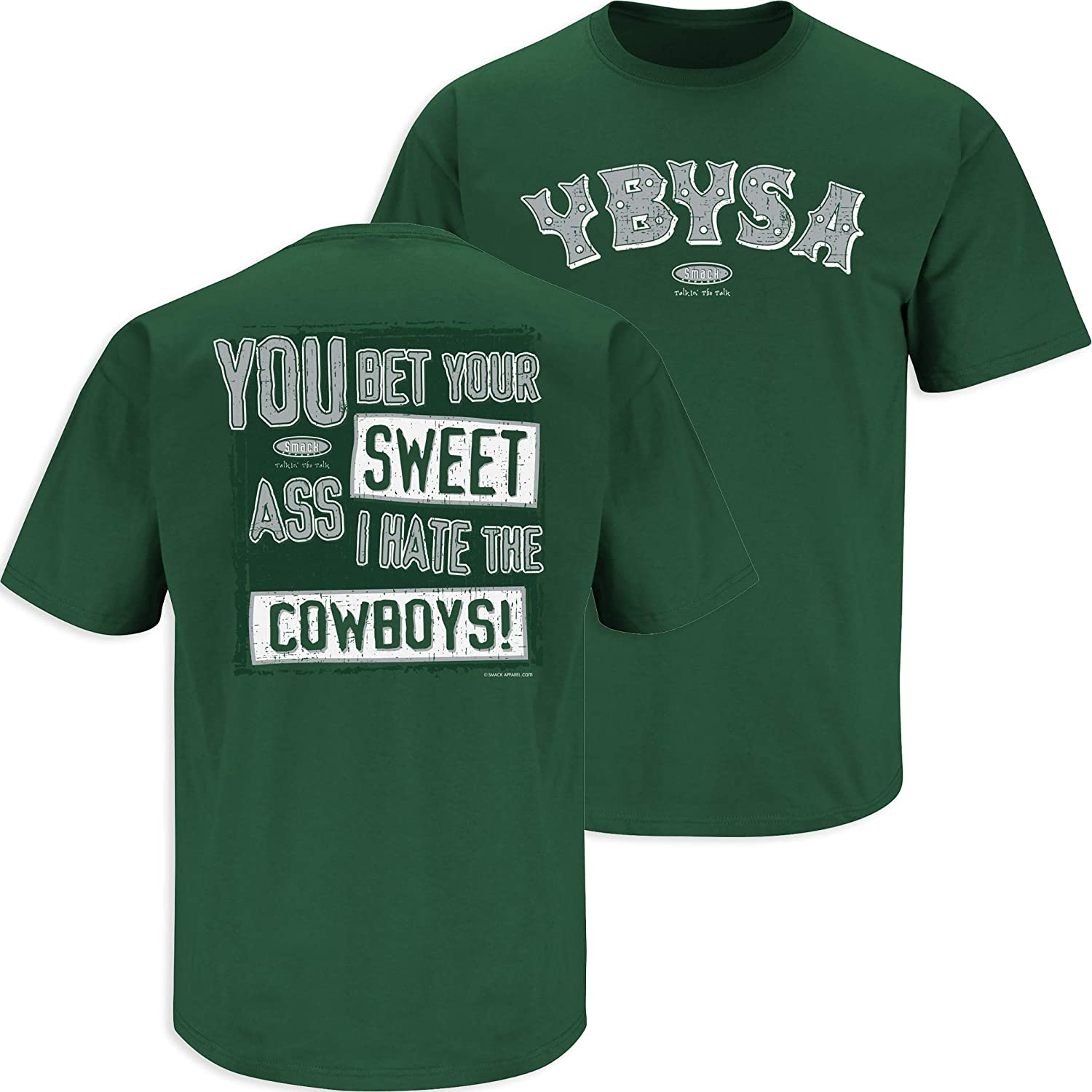 Anti-Patriots Smack Apparel New York Football Fans Sm-5X Forest Green T-Shirt Stay Victorious