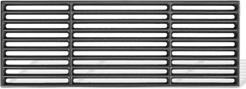 GFTIME Rejilla de Hierro Fundido esmaltado (1) para Barbacoa de Gas Boston, Negra, 15.7CM X 43CM , 7883