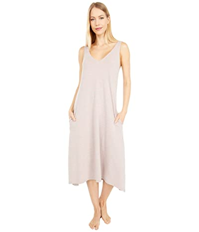 Skin Natural Skin Organic Cotton Maci Chemise (Heather Grey/Pink Stripe) Women