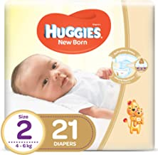 Huggies New Born, Size 2, 4-6 kg, 21 Diapers