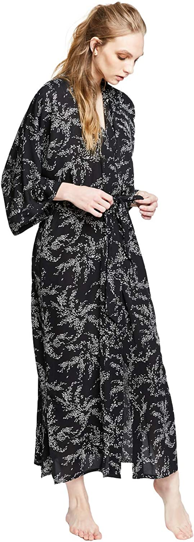KIM+ONO Women's Crepe Kimono Long Credence Free shipping New - Robe Floral