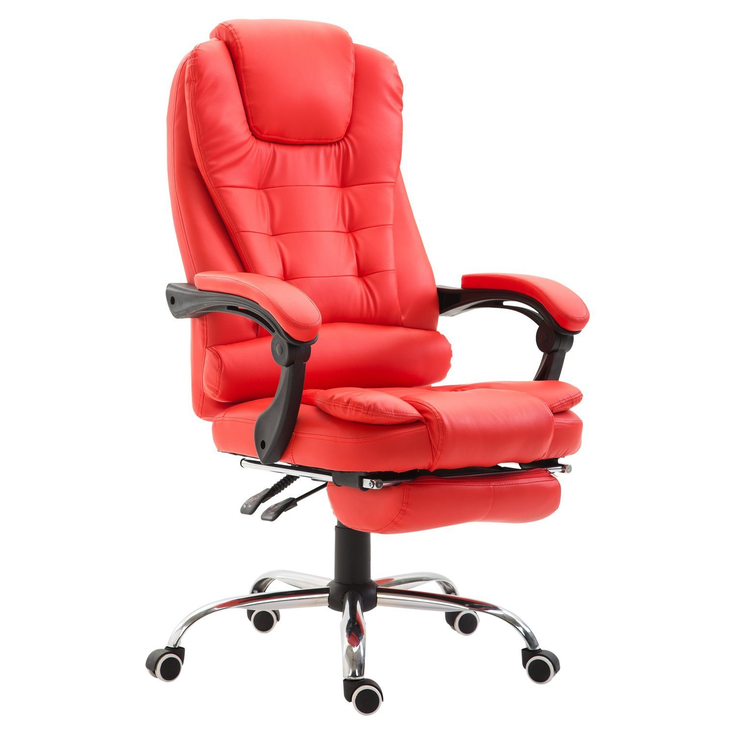 Homcom Reclining Pu Leather Executive Home Office Chair With