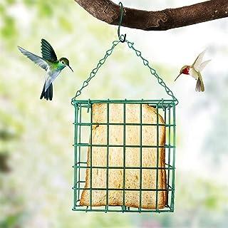 Green Square Bread Block Bird Feeder Outdoor Bird Food Device Suet Feeder Bird Cage Pet Supplies