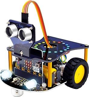 KEYESTUDIO BBC Micro:bit Mini Smart Car Kit STEM Education for Kids to Programmable Microbit DIY Coding Robot with Tutoria...