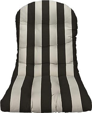 Outdoor Tufted Adirondack Chair Cushion - Black
