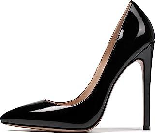 EDEFS Scarpe col Tacco Donna,Scarpe col Tacco Punta Chiusa Donna,12CM High Heel Scarpe Donna