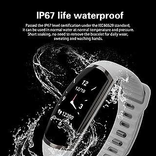 Leoboone R16 Pulsera inteligente deportiva con pantalla táctil a color, monitor de ritmo cardíaco y oxígeno en sangre.