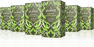Pukka Supreme Matcha Green, Organic Herbal Green Tea with Oothu, Sencha & Suio Gang (6 Pack, 120 Tea Bags)