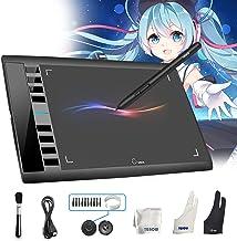 تبلت گرافیکی M708 UGEE - صفحه نمایش بزرگ و 8 کلید به همراه قلم مناسب برای نقاشی و هنرهای دیجیتالی