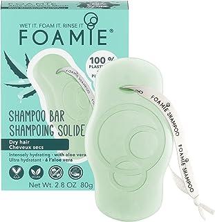 Shampoo solido Foamie per capelli secchi con aloe vera e olio di mandorle che idrata intensamente i capelli secchi shampoo...