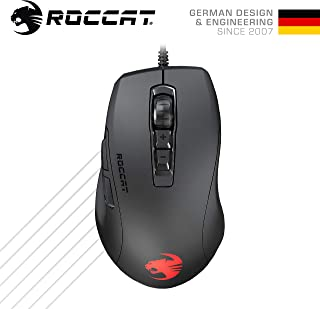 ROCCAT Kone Pure Ultra 超軽量エルゴノミクス ゲーミング マウス (光学式 Owl-Eye 16K, RGB, サイドボタン, 超軽量 66g) ブラック (正規保証品) ドイツデザイン&エンジニアリング ROC-11-730