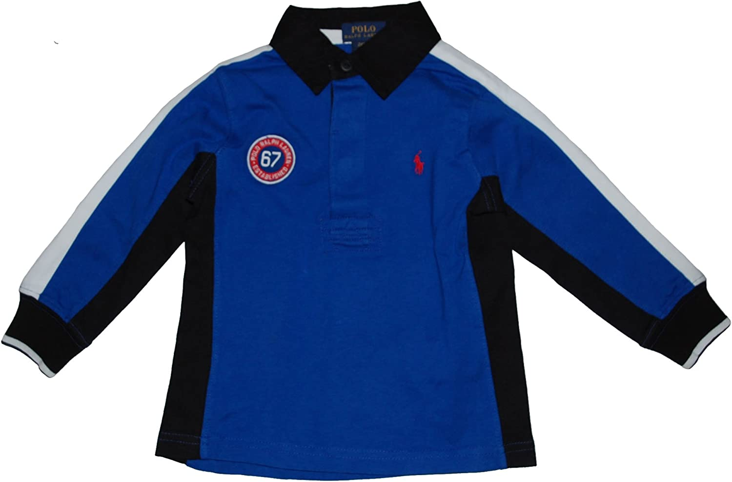 Ralph Lauren Polo Boys Long Sleeve Crested Rugby Shirt (2 2T)