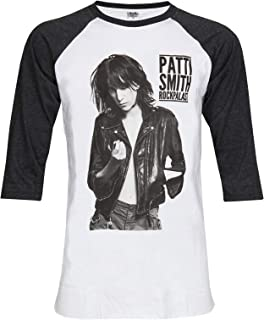 TopFusion Patti Smith Punk Rock Music 3/4 Sleeve Unisex Baseball T-Shirt