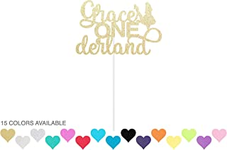 Custom Onederland Cake Topper - Alice`s Adventures in Wonderland Themed Birthday