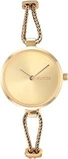 RumbaTime Women's 'Gramercy Mesh' Quartz Stainless Steel Casual Watch, Color:Gold-Toned (Model: 28355)