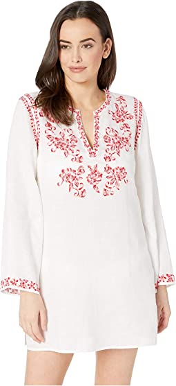 Azalea Embroidered Tunic Cover-Up