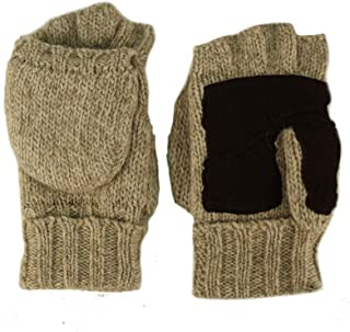 Men's Thinsulate 3M Thick Wool Knitted Half Mitten Suede Palm Gloves