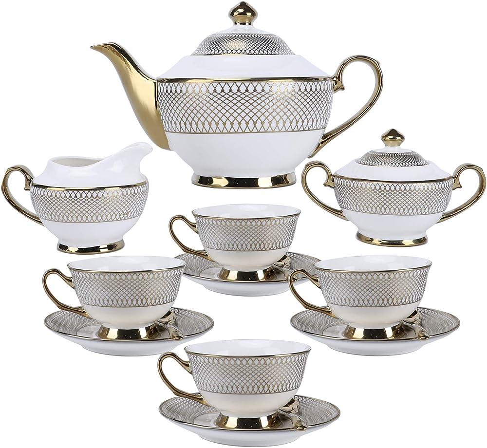 Servizio da tè o caffe` , in porcellana , 11 pezzi FKT0409