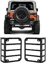 IBACP 2007-2017 Jeep JK Wrangler JK & Unlimited Sahara Sports Freedom & Rubicon Black Metal Euro Taillight Lamp Guard Cover