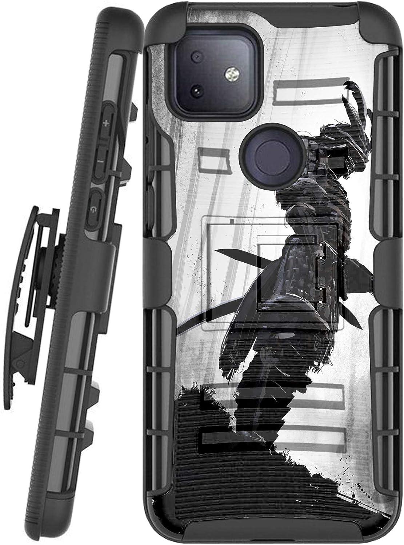 DALUX Hybrid Kickstand Holster Phone Case Compatible with T-Mobile REVVL 4 Plus/REVVL 4+ (2020) - Gray Forest Warrior