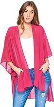 Modern Kiwi Solid Sheer Chiffon Kimono Cardigan
