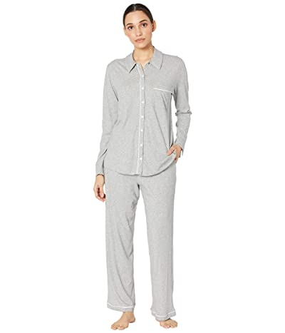 Skin Organic Cotton Cecilia Pajama Set (Heather Grey) Women
